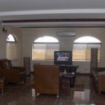 Cable television in the main living area at Casa Blanca