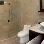 Shared Bath with Deluxe Shower for Guest Bedrooms