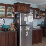 The full size refrigerator & freezer is great for families